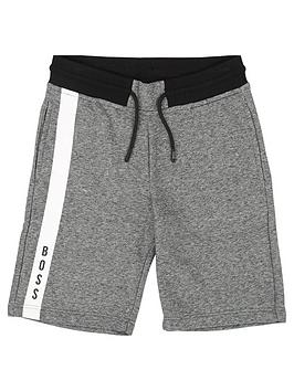 boss-boys-side-stripe-jersey-logo-shorts-greyblack