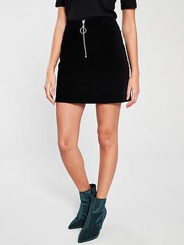 v-by-very-cord-mini-skirt-black
