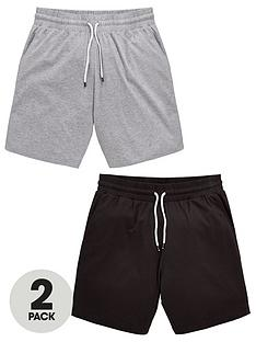 822d86b19a04 V by Very 2 Pack Jersey Loungewear Shorts - Grey Black