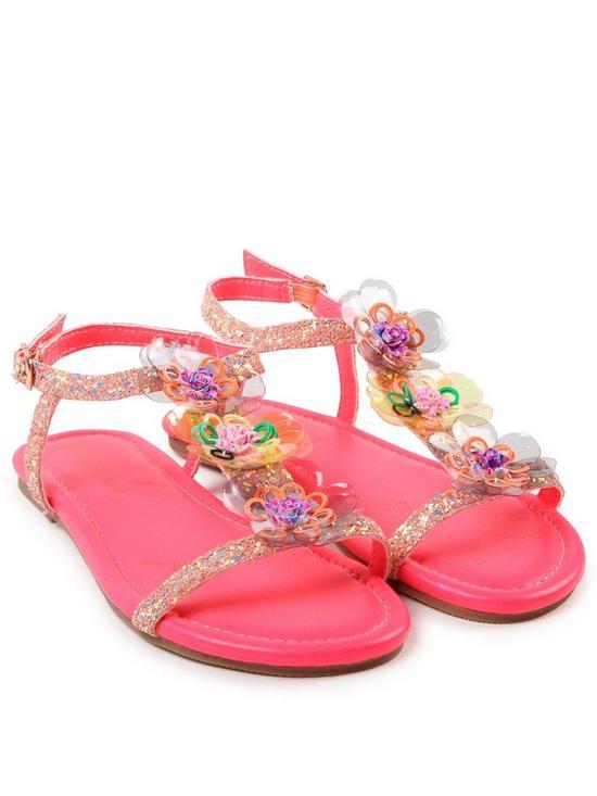 9fcea9ac154e Billieblush Girls Glitter Flower Sandal
