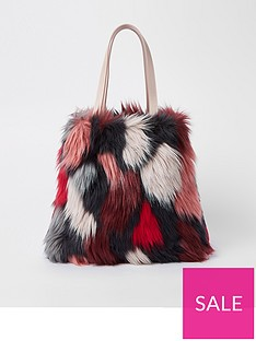 river-island-girls-faux-fur-shopper-bag