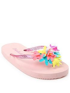 be8d8f34c052 Billieblush Girls Flower Flip Flop