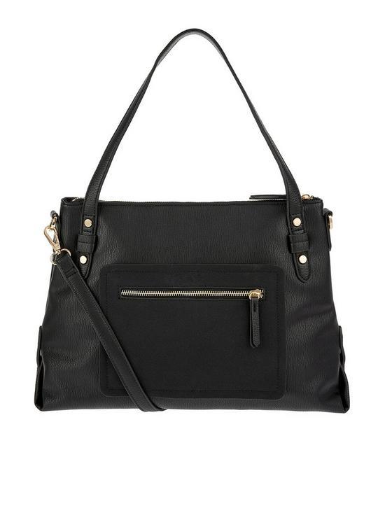 Accessorize Ali Zip Shoulder Bag - Black  a2022d54b3d7