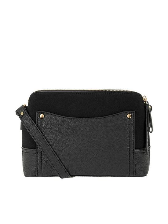 Accessorize Darcy Double Zip Crossbody Bag - Black