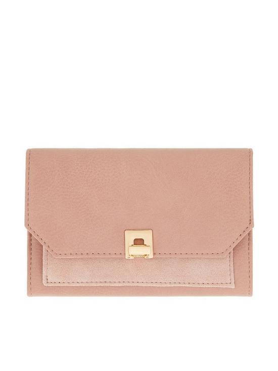 f01f72eeb Accessorize Ferne Faux Suede Contrast Wallet Purse - Light Pink ...