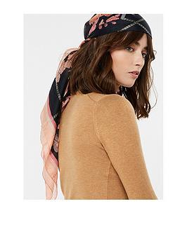 accessorize-ava-foil-floral-silk-square-multi
