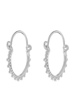 accessorize-sterling-silver-kerala-hoop-earrings
