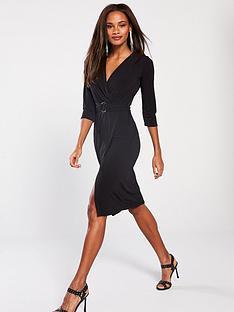 v-by-very-belted-ring-midi-dress-blacknbsp