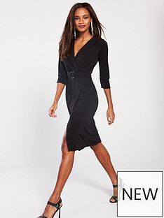 v-by-very-belted-ring-midi-dress