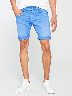 replay-tapered-blue-bull-denim-shorts