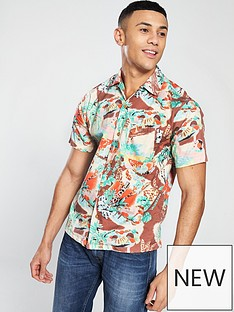 replay-hawaiian-print-shirt
