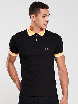 replay-tipped-polo-shirt-black