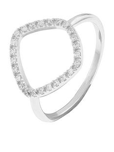 accessorize-sterling-silver-organic-shape-ring