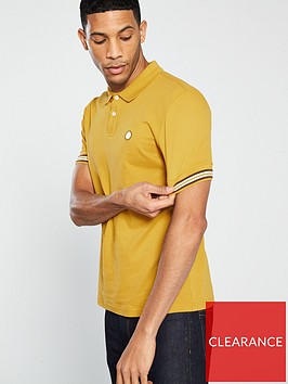 pretty-green-raised-tipped-cuff-polo-shirt-mustard