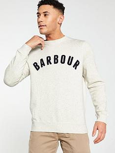 barbour-prep-logo-crew-sweat-ecru-marl
