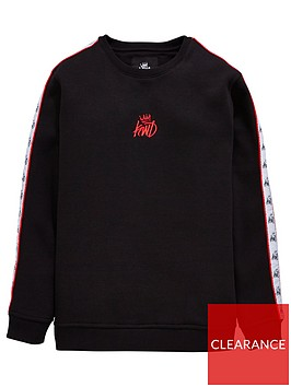 kings-will-dream-boys-melford-taped-crew-neck-sweat