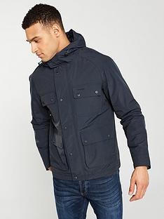 barbour-hallow-waxed-jacket-navy