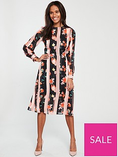 v-by-very-flower-and-stripe-midi-dress-print