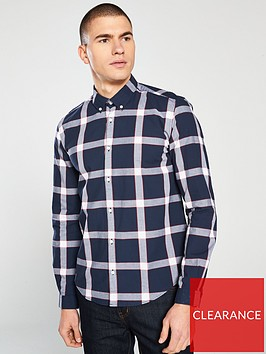 barbour-international-valve-checked-shirt-navy