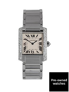 cartier-cartier-pre-owned-diamond-shoulder-tank-francaise-dial-stainless-steel-bracelet-midsize-watch-ref-2301