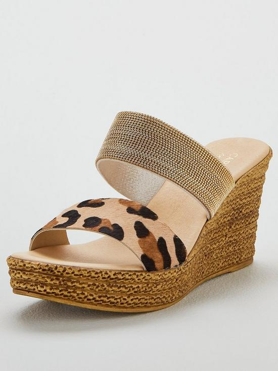 e75303caf056 Carvela Comfort Sybil Wedge Sandals - Gold