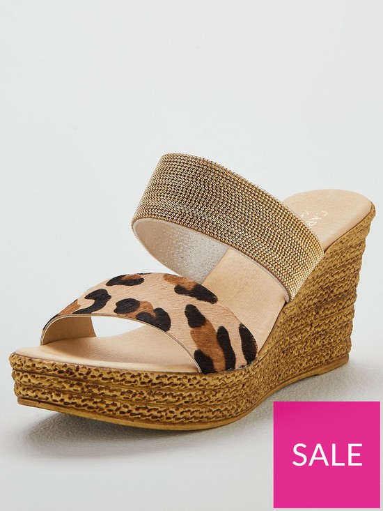 4e51bea6af Carvela Comfort Sybil Wedge Sandals - Gold | very.co.uk