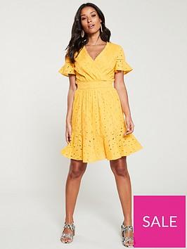 v-by-very-broderie-flippy-hem-dress-yellow