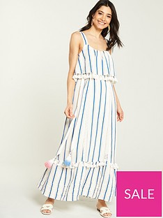 v-by-very-tie-waist-linen-maxi-dress-stripe