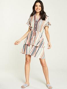 v-by-very-stripe-shirred-waist-dress-multi