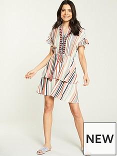 0101ff0e905 V by Very Stripe Shirred Waist Dress - Multi