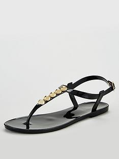 carvela-stud-jelly-flip-flops-black