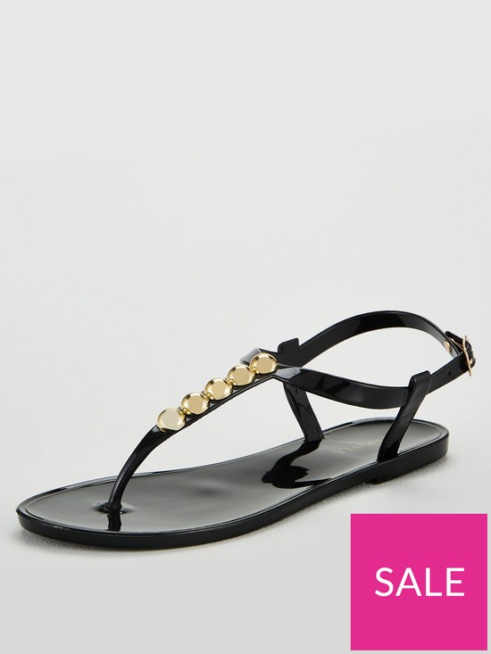 2e76254529 Carvela Stud Jelly Flip Flops - Black | very.co.uk