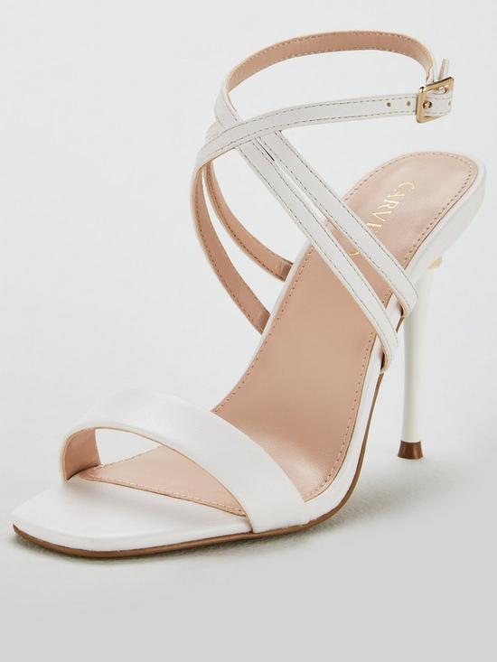 4be4f4b4f4b4 Carvela Goldi Strappy Stiletto Heel Sandal Shoes - White Gold