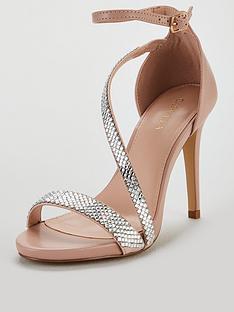 d6e8e682e36a Carvela Gem Asymmetrical Heeled Sandals - Nude
