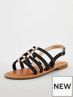 carvela-multi-strap-hardwearnbspflat-sandals-black