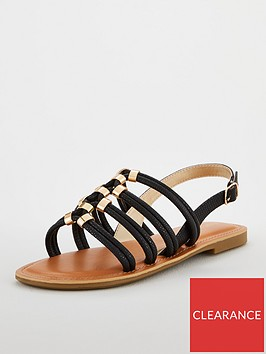 carvela-multi-strap-hardwearnbspflat-sandals-black
