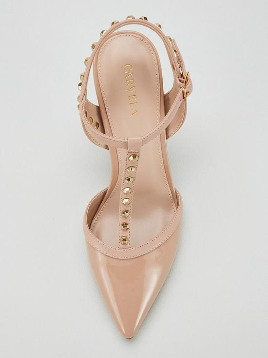 22204b105 ... Carvela Stud T-Bar Court Heeled Sandals - Nude. Purchased 7 times in  the last 48 hrs.
