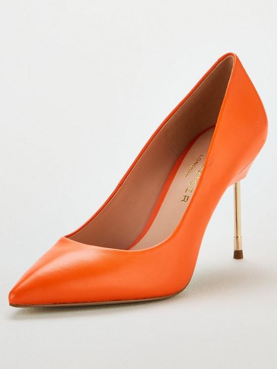 9b53938c0134 KURT GEIGER LONDON Britton 90 Heeled Court Shoe - Orange