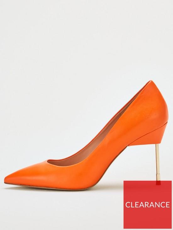 047b0e5cb50 Britton 90 Heeled Court Shoe - Orange