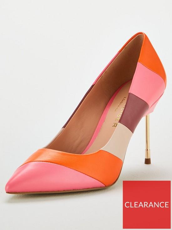 c8ebe9d1edc Britton 90 Stripe Heeled Court Shoes - Multi