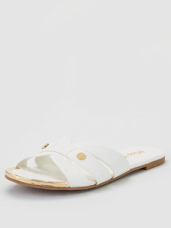 bb5c688f84 Miss KG Dallas Flat Sandals - White | very.co.uk
