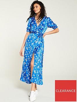 v-by-very-jacquardnbspstripe-wrap-dress-blue-floral