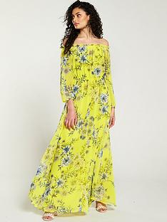 v-by-very-bardot-maxi-dress-yellow-floral