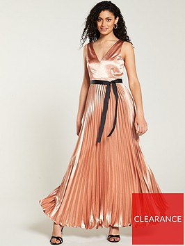 v-by-very-satin-pleated-maxi-dress-rose-gold