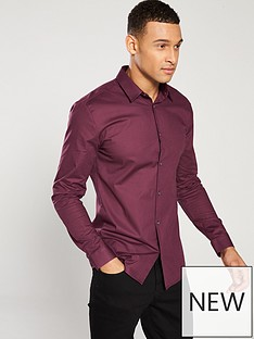 river-island-wine-muscle-poplin-shirt