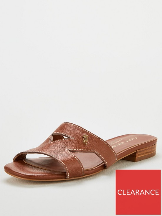 1fd94a8400f Odina Flat Cut Out Sandals - Brown