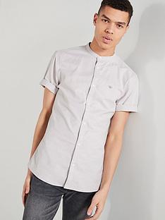 224c7f9d River Island Short Sleeve Oxford Grandad Shirt
