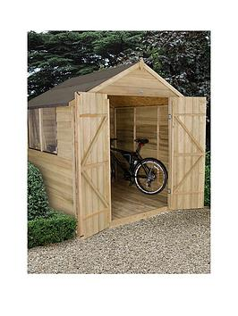 forest-7-x-7ft-apex-overlap-pressure-treatednbspshed-with-double-doors