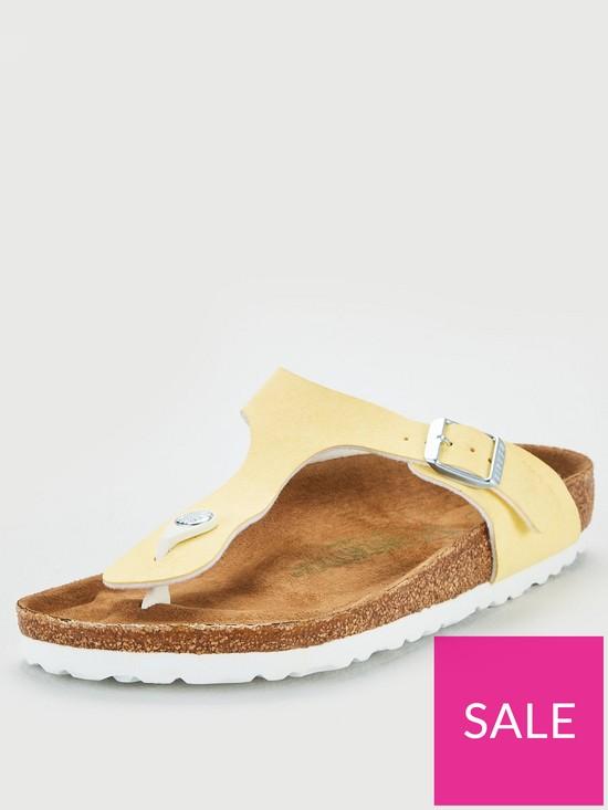 659eb574b Birkenstock Vegan Gizeh Flip Flops - Vanilla | very.co.uk