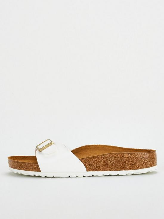 ead56662d0b Birkenstock Madrid Big Buckle Flat Sandals - White | very.co.uk